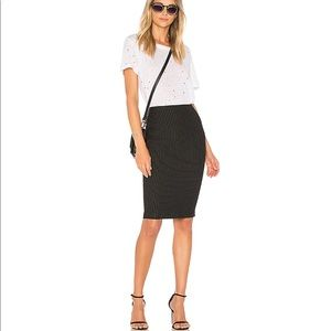 Zara stretch midi pencil skirt